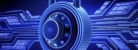 A digital lock with lighted background.