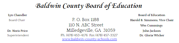 December 8th, 2016. For immediate release. Baldwin County School District  Achieves ...