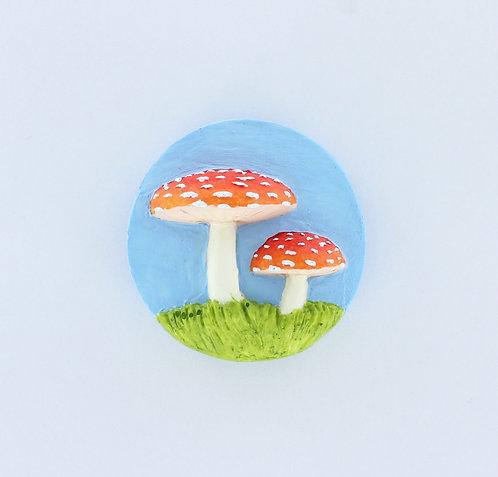 3D Mushrooms Fridge Magnet