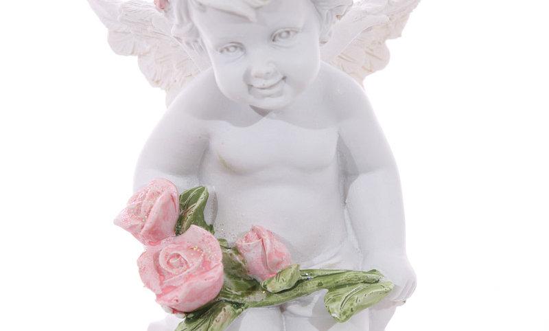 Cherub Holding a Rose