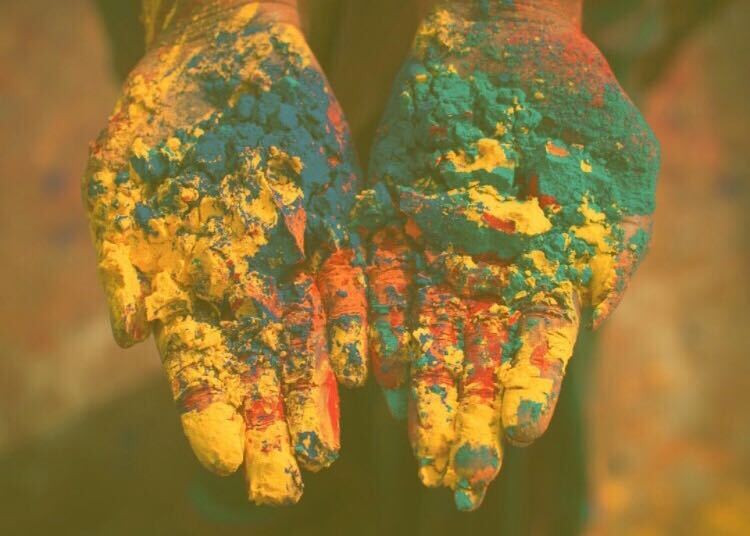 Hand full of colors