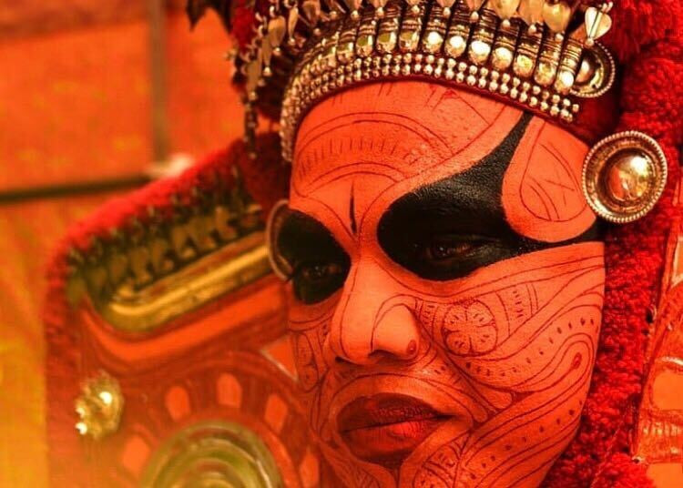 Theyyam, a ritual form of worship in Kannur, Kerala