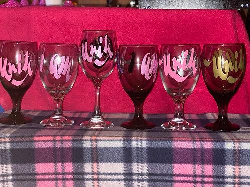 Unik I Am Wine Glass- Large