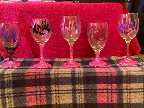 Unik I Am sparkle wine glass-large