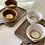 Thumbnail: Décoration minérale : Photophore en grès blanc