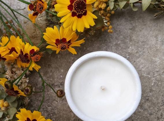 bougie végétale poterie