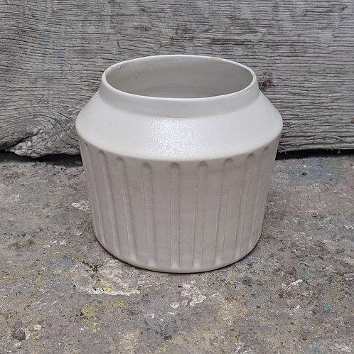 Décoration minérale : Vase cannelé #3