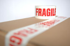 Carefully packaged fragile antiques ready for shipping