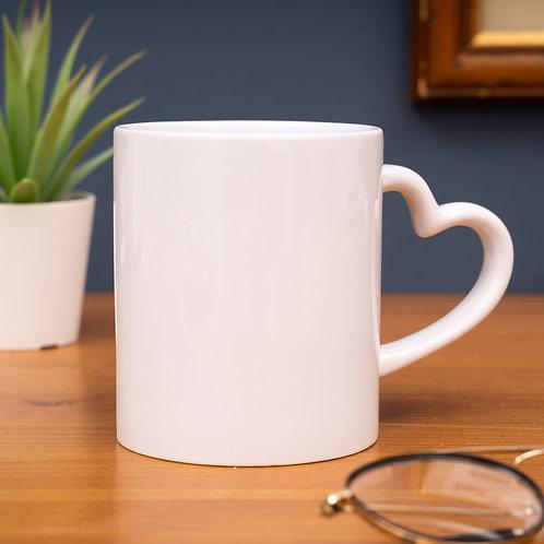 11oz Love Heart Handle Mug