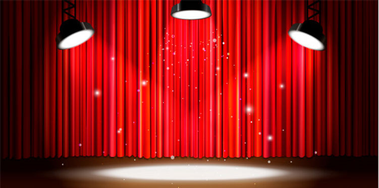 bright-red-curtain-with-bright-spotlight