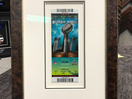 It's Super Bowl Weekend! Let's Frame for it!