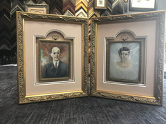old hand colored photo portraits