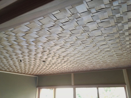 黒部杉(ネズコ)へぎ板網代天井