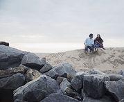 ビーチでのカップル