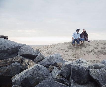 Pares en una playa