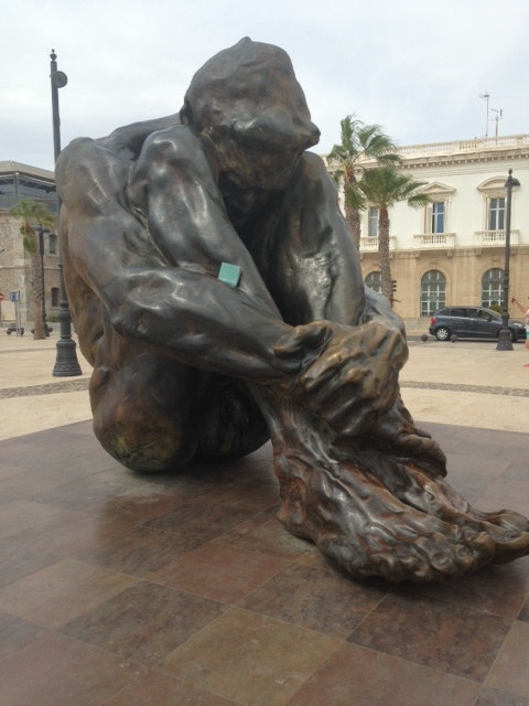 Anxiety and Misery of Terrorism Captured in Spanish Sculpture