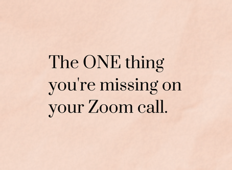 Communication challenges during lockdown: the ONE thing you're missing on your Zoom call.