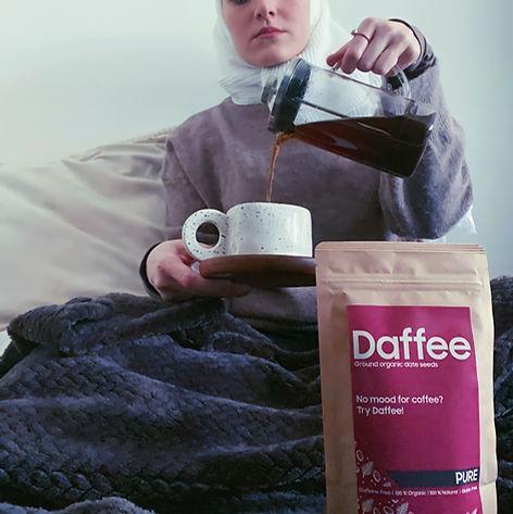 Daffee -  Coffee-like from date seeds caffeine free.