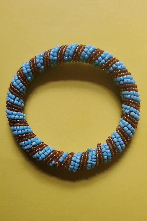 Flexible beaded bracelet