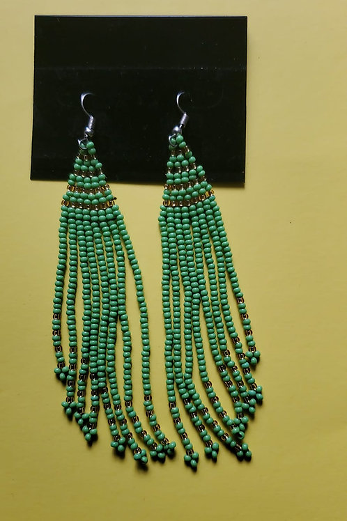 Long weave mvua earings