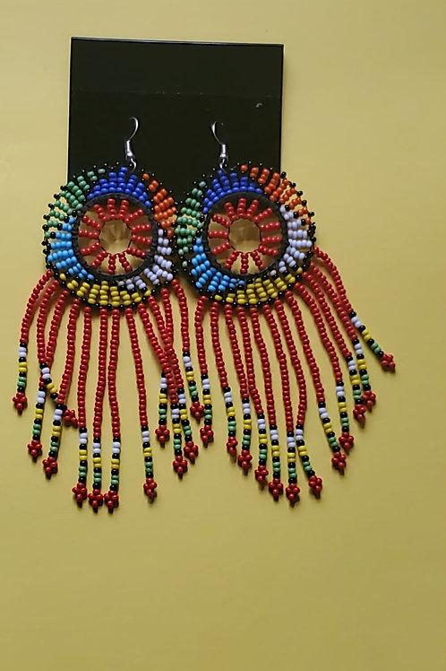 Mutlicolor large wheel mvua earings