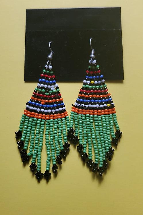 Short weave mvua earings