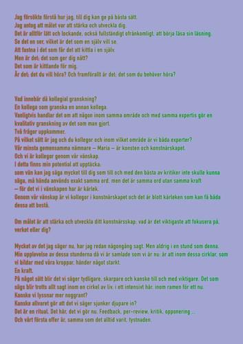 Peer-review - Maria Hilmersson Landgren