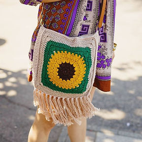 Sneak peek of my Sunflower Boho Bag for