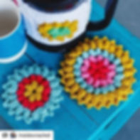 Cafetiere Cover and Coasters. _A great p