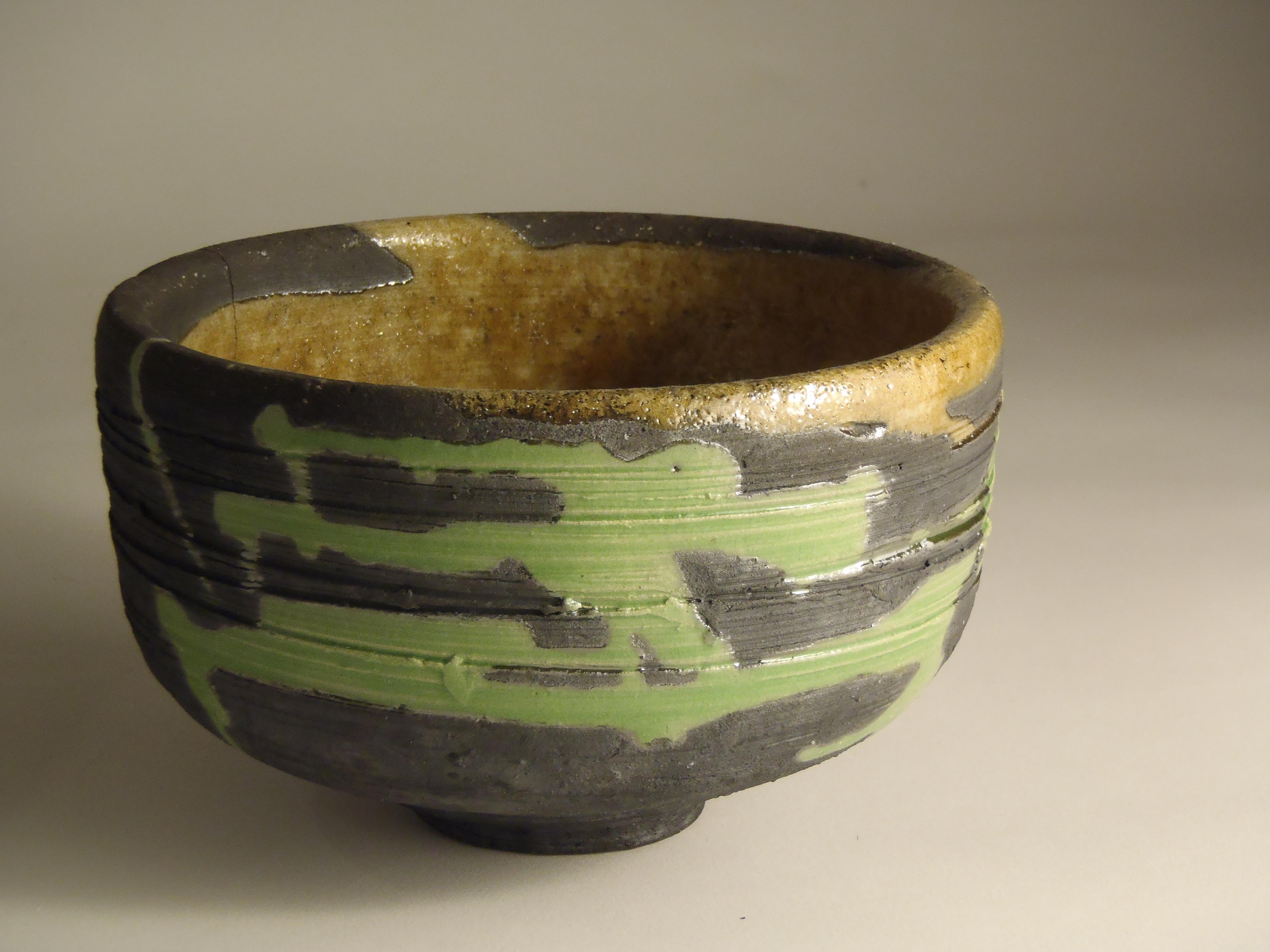 Raku tea bowl, 2014.