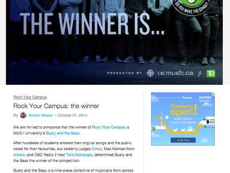 Rock Your Campus (CBC Music x TD)