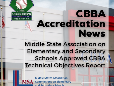 Middle States Association CESS Approves CBBA Technical Report