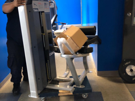 New training machines arrive at our renovated gym