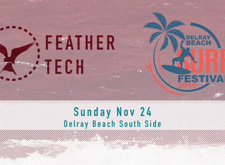 Feather Tech Will Be At Delray Beach Surf Festival
