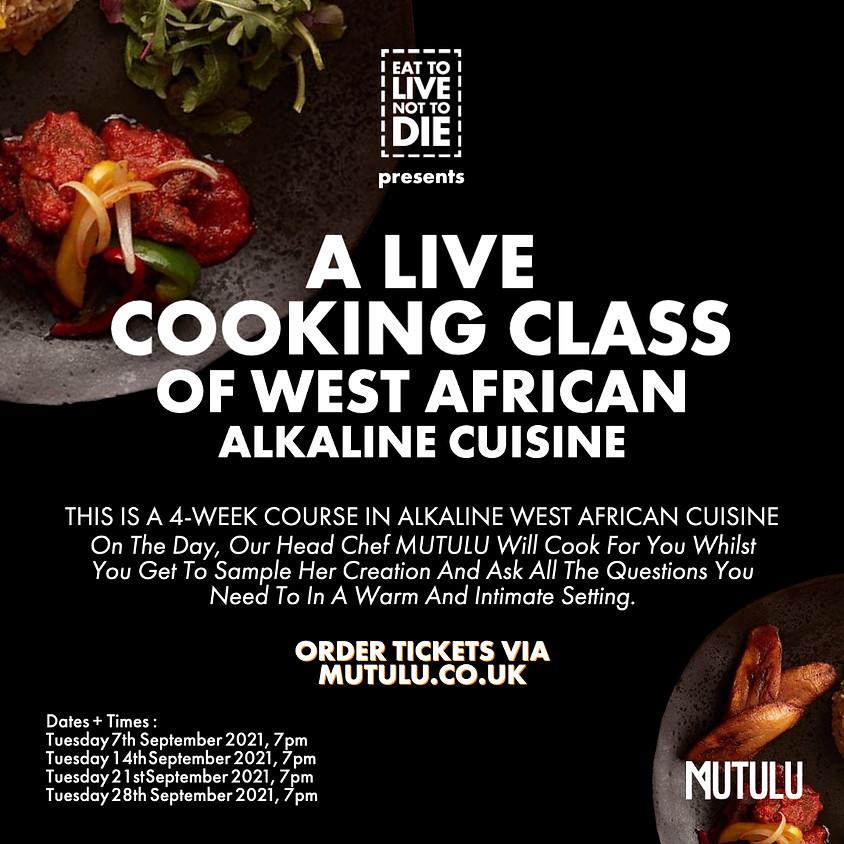 A Live Presentation Of West African Alkaline Cuisine