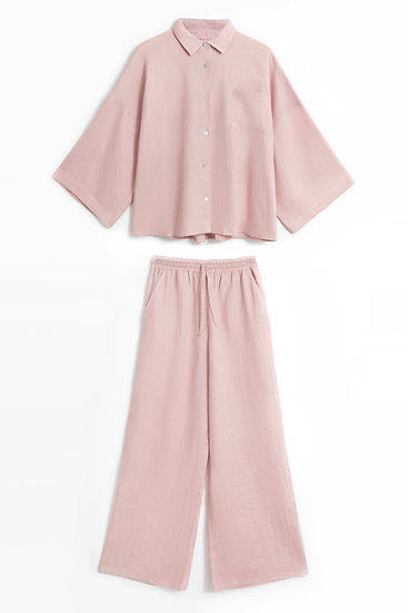 Piżama damska Lydie oversize z długimi spodniami