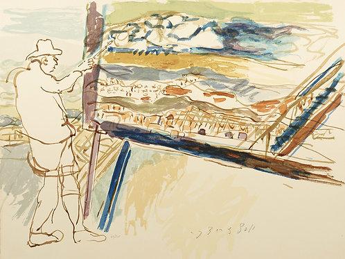 The Artist Painting a Landscape