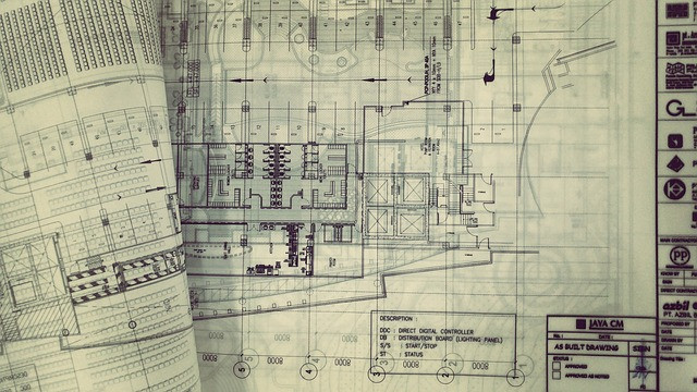 Plans and designs of a property renovation project