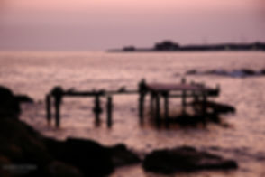 Landscape photograph of the sunset with the ocean in Paphos, Cyprus