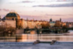 Landscape photograph of sunset in Prague, Czech Republic