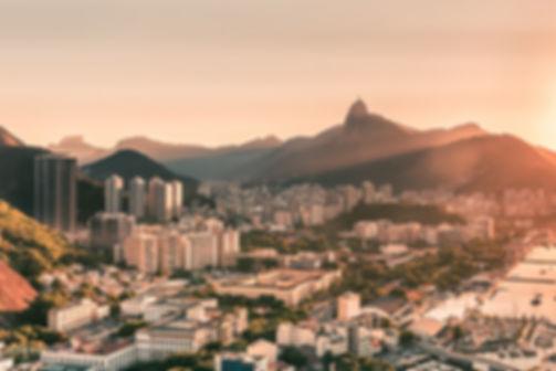 Landscape photograph of a sunset in Rio De Janeiro, Brazil