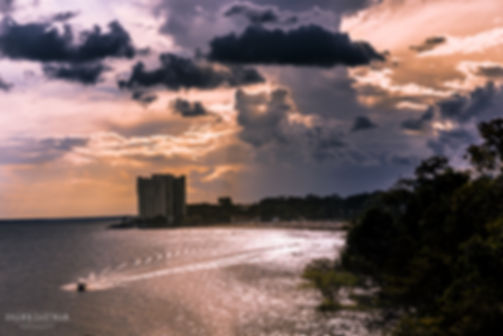 Landscape photograph of sunset in Manaus in the Amazonas, Brazil