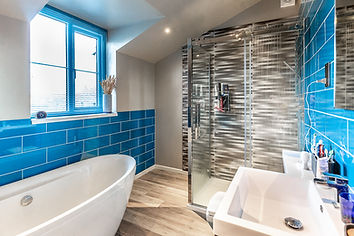 A new bathroom installation inside a property in Cardiff, South Wales