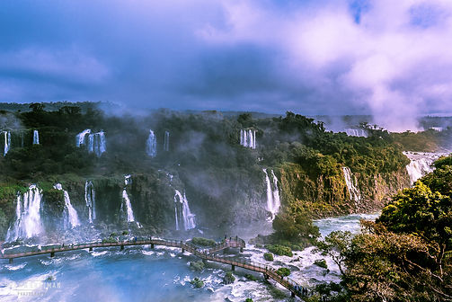 Landscape photograph of the Iguazu Falls in Argentina