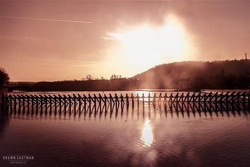 Landscape photograph of sunset at the Novotneholavka in Prague, Czech Republic