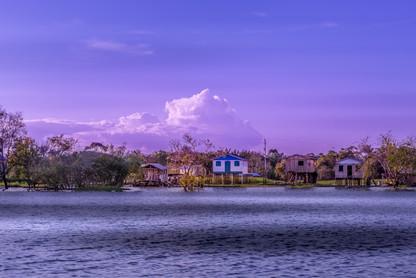 house-boats-amazon-river-rainforest-dusk