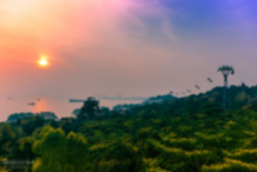Landscape photograph of the sunset in Sentosa Island, Singapore