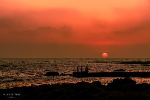 burning-sunset-mediterranean-sea-paphos-