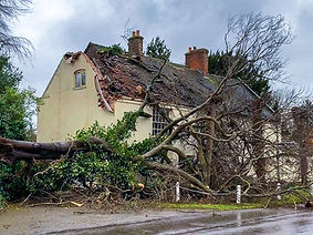 Insurance work undertaken to repair storm damage