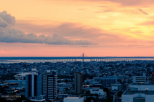 Street photograph of a sunset in Manaus in the Amazonas, Brazil